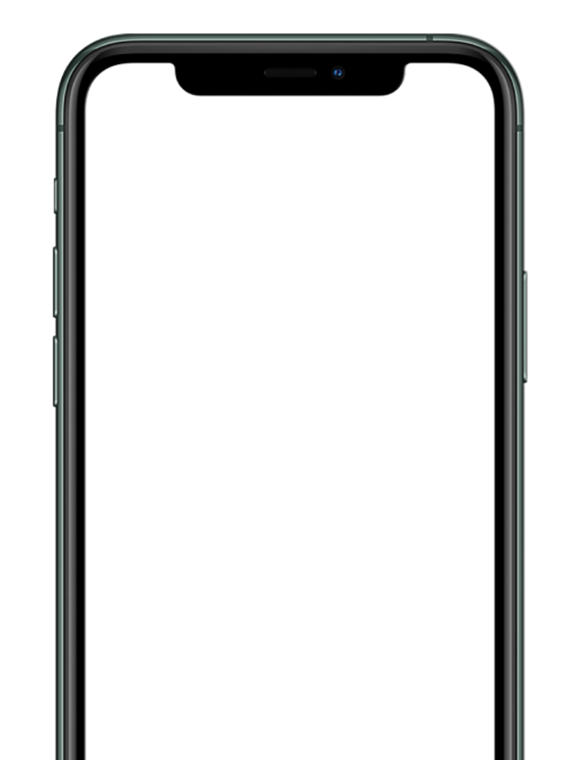 Landing page phone screen shell